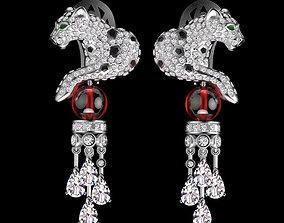earrings 3D print model pouceta