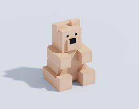 3D model Voxel Teddy Bear T2