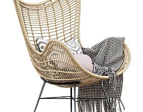 3D HK Living Natural rattan egg chair