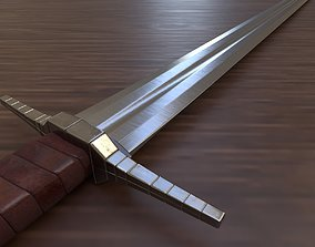 Viking Sword 3D model low-poly