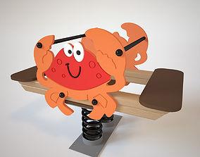 Playground Spring - Crab 3D model