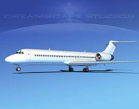 Boeing 717-200 Unmarked 3 3D model