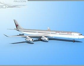 Falcon3D A340 -600 Qatar rigged