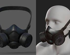 3D model Gas mask helmet futuristic technology protection