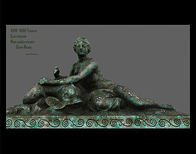 3D asset old statue 1