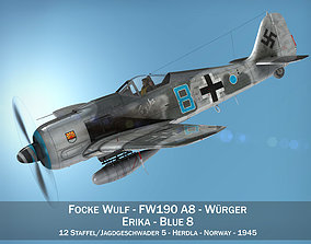 3D model Focke Wulf - FW190 A8 - Blue 8