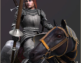 Adam Knight Horseman 3D asset animated
