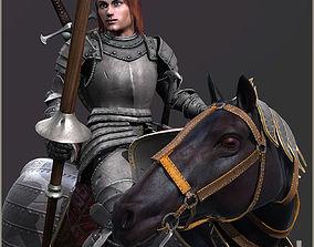 Adam Knight Horseman 3D asset animated