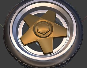 Borbet Alloy wheel with tire 3D printable model