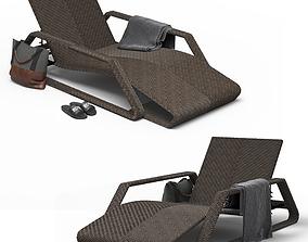 3D asset Large Seville Suno Lounger