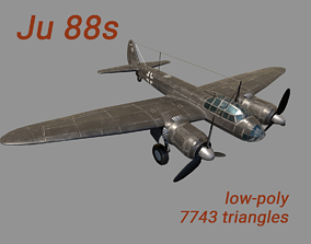 3D model Ju 88 S PBR