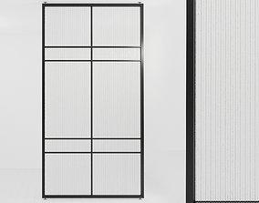 Glass partition door 65 3D asset