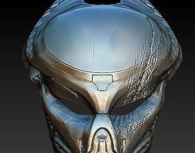 Fugitive Predator damaged bio mask 3d model armor