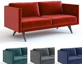 West Elm - Brooklyn Velvet Sofa 3D model