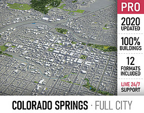 Colorado Springs - city and surroundings 3D asset