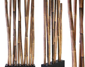 3D model Bamboo stick decor