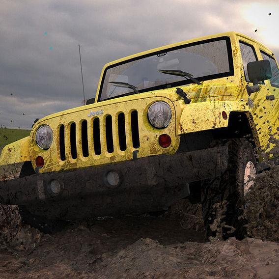 Cross Country Jeep scene