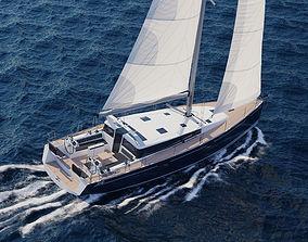 3D model watercraft Sailboat Beneteau Sense 50 Yacht