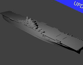 3D printable model US Essex Class Aircraft Carrier