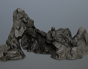 rock gate 3D model realtime