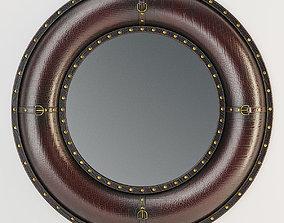 Benzara Leather Wall Mirror 3D model