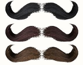 Mustache Low Poly 6 3D model