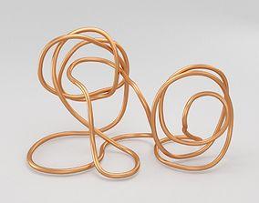 3D asset Copper Wire Sculpture