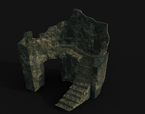 Ruined fortress 3D asset