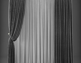 VR / AR ready Curtain 3D model 242