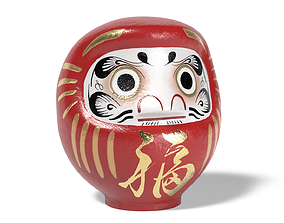 Daruma japanese doll 3D model