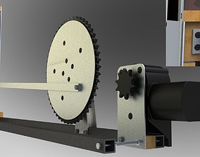 Electromechanical can crusher 3D model