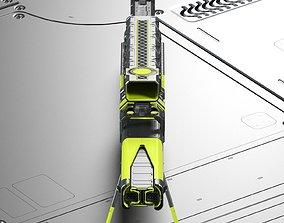 3D model Sci-fi concept laser sniper rifle