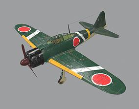 3D asset Zero fighter of Japanese Navy in World War II