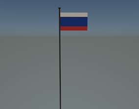 3D asset Russia flag