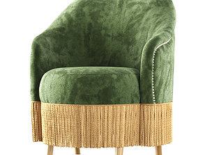 3D model Amanda velour dining chair