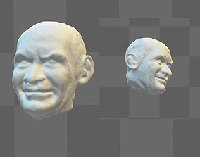 Actor Louis de Funes 3D head