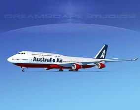 Boeing 747-8I Jumbo Jet Australis 3D