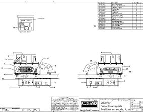 Sandvik vsi RP107 impact crusher complete drawing 3D model