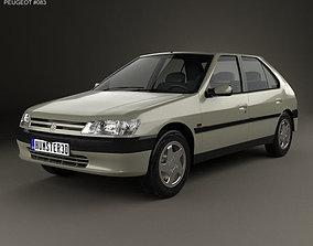 3D model Peugeot 306 5-door hatchback 1993
