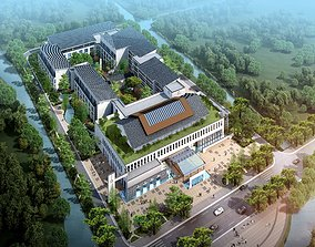 Chinese architecture Construction Villa area 3D