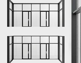 Panoramic windows Door Entrance 6 3D model