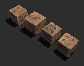 3D asset Medieval Game Dice