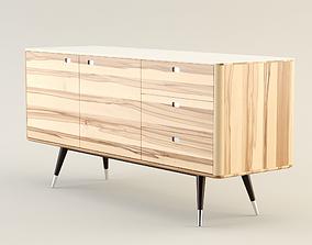 Danish Retro Sideboard 3D