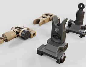 3D asset Knights Armament Micro Flip Up Backup Iron Sights