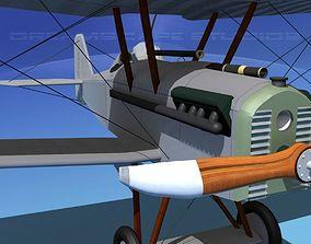 RAF SE5A Fighter Bare Metal 3D model