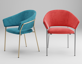 Pedrali Jazz 3716 Armchair 3D model
