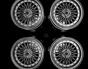 3D print model 1 to 24 scale car rims