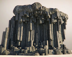 Basalt Columns and Rocks Kit PBR - Natural 3D asset