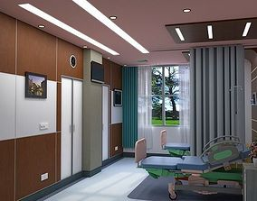 3D 2-Bed Hospital Room