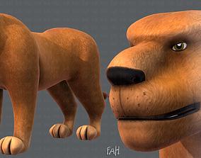 3D asset Lion V01